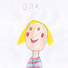 Оля училась писать буквы, читать слова, в игре Читания