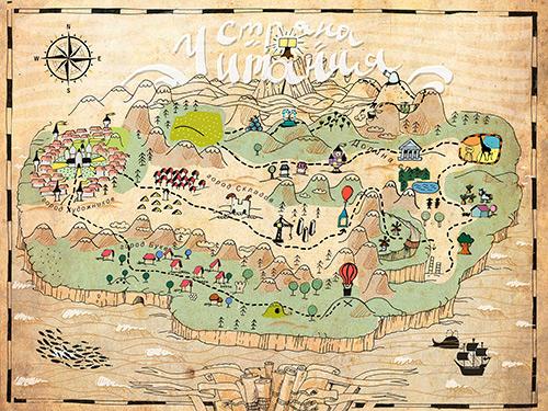 Карта волшебной страны чтения - Читании